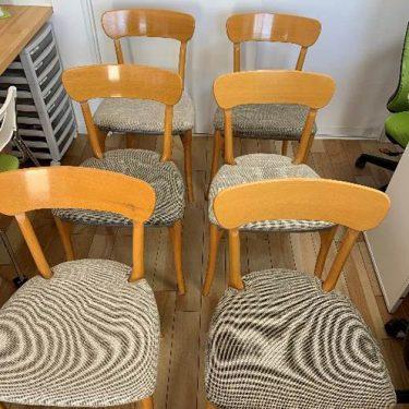 26年間使った椅子を張り替えて気分一新!